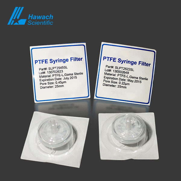Hydrophilic PTEF Stelie Syringe Filters