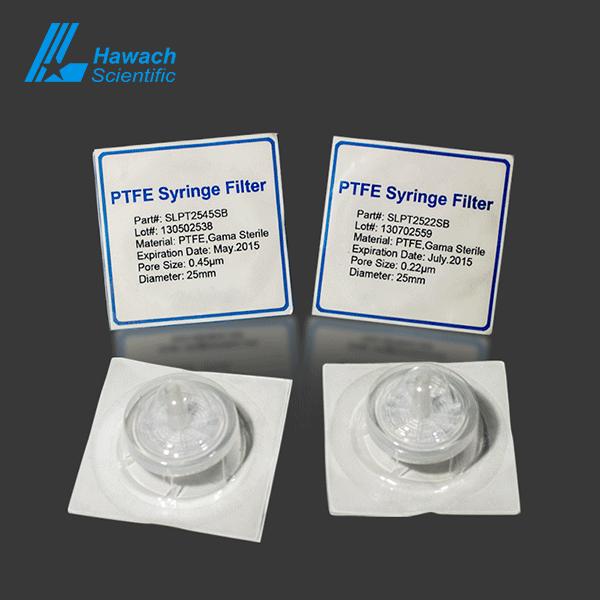 Hydrophobic PTEF Stelie Syringe Filters